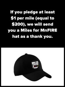 Miles for MnFIRE hat